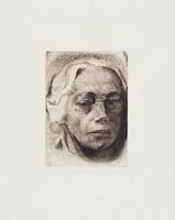 Selbstbildnis 1912 / Klipstein 122/VIIa by Käthe Kollwitz
