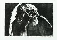 Selbstbildnis 1924 / Klipstein 202 / V by Käthe Kollwitz