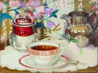Still Life with Tea Cup by Marion Powers