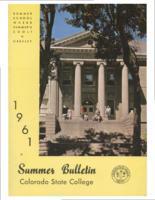 1961 - Colorado State College Summer Bulletin, series 61, no. 2