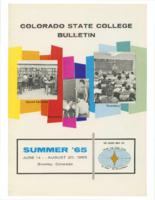 1965 - Colorado State College Summer Bulletin, series 65, number 3