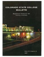1967 - Colorado State College Summer Bulletin, series 67, number 3
