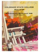 1968 - Colorado State College Summer Bulletin, series 68, number 1