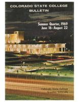 1969 - Colorado State College Summer Bulletin, series 69, number 1