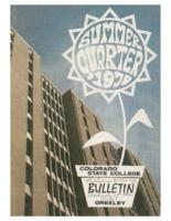 1970-Colorado State College Summer Bulletin