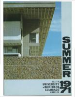 1971-University of Northern Colorado Summer Bulletin, series 71, number 1