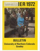1972-University of Northern Colorado Summer Bulletin, series 72, number 1