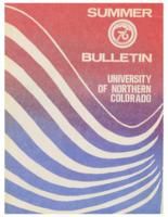 1976-University of Northern Colorado Summer Bulletin, series 76, number 1