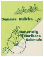 1977-University of Northern Colorado Summer Bulletin