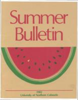 1982-University of Northern Colorado Summer Bulletin