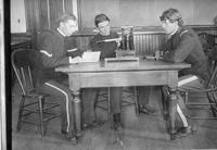 Three men in a classroom, State Normal School