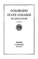 1945 - Colorado State College of Education bulletin, series 45, number 2
