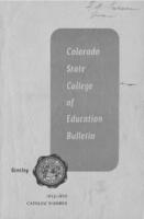 1952 - Colorado State College of Education bulletin, series 52, number 15
