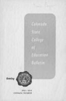 1953 - Colorado State College of Education bulletin, series 53, number 9