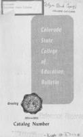 1954 - Colorado State College of Education bulletin, series 54, number 1
