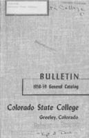 1958 - Colorado State College bulletin, series 58, number 7
