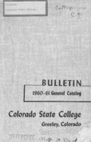 Colorado State College bulletin, series 60, number 6: 1960-61 general catalog