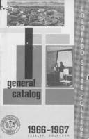 Colorado State College bulletin, series 66, number 3: 1966-67 general catalog