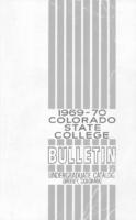 Colorado State College bulletin, series 69, number 3: 1969-1970 undergraduate catalog