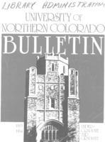 1983-1984 - University of Northern Colorado undergraduate and graduate bulletin, series 81, number 2