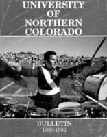 1990-1992 - University of Northern Colorado undergraduate and graduate bulletin, series 90, number 3