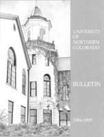 1994-1995 - University of Northern Colorado undergraduate and graduate bulletin, series 44, number 3