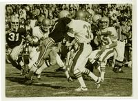 Action shot of the University of Northern Colorado football team, 1976.