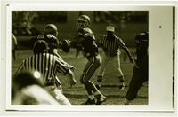 Action shot of the quarterback for the University of Northern Colorado football team, 1993