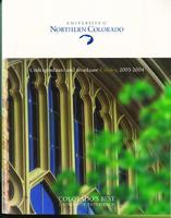 2003-2004 - University of Northern Colorado undergraduate and graduate catalog, series 2003, number 2