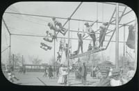 Children playing on outdoor playground