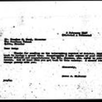 1947-02-05 Letter from James A. Michener to Douglas S. Bard