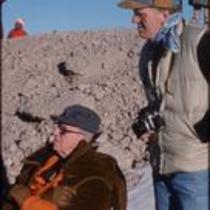 James Michener and John Kings, Grand Teton National Park, Wyoming, 1977