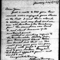 1947-01-23 Letter from Katherine Murra to James A. Michener