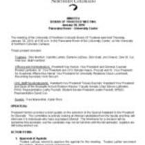 2010-01-28 - Board of Trustees meeting minutes