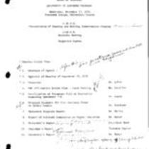 1976-11-17 - Board of Trustees meeting agenda and minutes