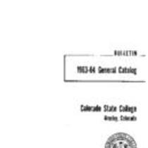 Colorado State College bulletin, series 63, number 3: 1963-1964 general catalog