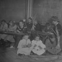 Basket weaving class, State Normal School