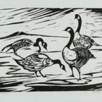 Two Buttes Geese by Lucille Homescher