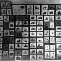 Display wall of still life prints