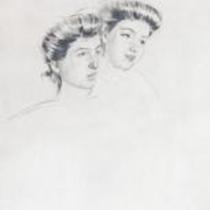 Heads of Two Young Women by Mary Cassatt