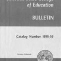 1955 - Colorado State College of Education bulletin, series 55, number 1
