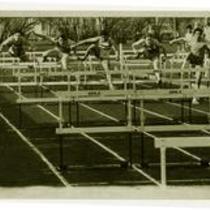 Unidentified hurdlers, ca. 1980s.