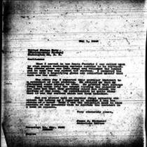 1946-05-01 Letter from James A. Michener to the United States Navy