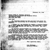 1946-02-20 Letter from James A. Michener to Lieutenant Lewis Robbins