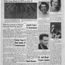 Summer edition : Number 7 : July 27, 1956