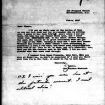 "1947-02-04 Letter from Jan Vlachos Westcott to ""Jimmie"""
