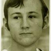 Unidentified player, University of Northern Colorado basketball, 1968.