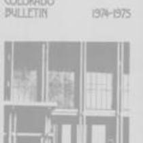 University of Northern Colorado bulletin, series 74, number 2: 1974-75 undergraduate catalog 1974-03