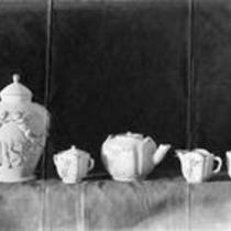 Ceramic tea set and jar
