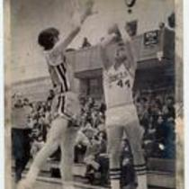 Colorado State College vs. Abilene Christian University basketball game, ca. 1960s.